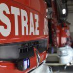 Pożar w Chełmży. Podczas gaszenia magazyn się zawalił
