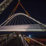 Już zamontowali tego 150-tonowego kolosa nad autostradą A1 [GALERIA ZDJĘĆ]