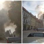 Pożar w Chełmnie. W kamienicy znaleziono zwęglone ciało [FOTO, WIDEO]